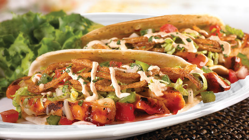 Fire-grilled BBQ Chicken Taco